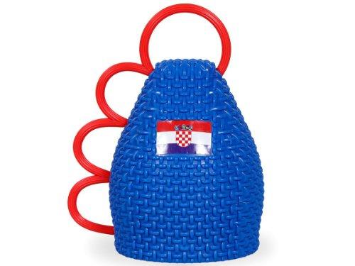 Set di 6 caxirola per tifosi di croazia croato croatia accessorio europei mondiali coppa strumento musica estate festa internazionale calcio (CAX-CRO01) - Campione Cina