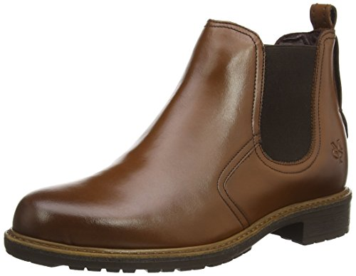 Marc O'Polo Chelsea Boot, Stivaletti a gamba corta mod. Chelsea, imbottitura leggera donna, Marrone (Braun (720 cognac)), 40