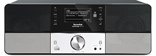 TechniSat Digitradio 360 IR Internetradio (Spotify, WLAN, LAN, DAB+, DAB, UKW, Radiowecker, Wifi-Streamingfunktion, Multiroom, 2 x 5 Watt Lautsprecher, Aluminiumfront) schwarz/silber