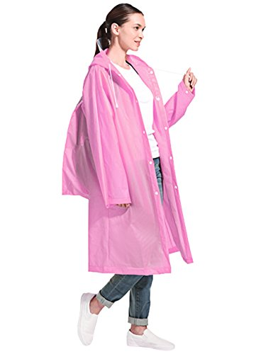 Aibrou Transparent Regenponcho Motorrad Regenmantel Wasserdichte Regenjacke EVA Regenkleidung Fahrrad Raincoat Regencape für Männer & Frauen