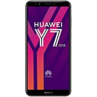 Huawei Y7 2018 16 GB 5.99-Inch HD+ FullView Android 8.0 SIM-Free Smartphone, Single SIM, UK Version - Black