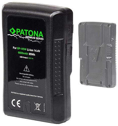 PATONA Premium V-Mount - Ersatz für Akku Sony BP-95W mit 6600mAh und 95Wh (somit unter den magischen 100Wh nach EU-Flugrichtlinie) 100 Bl Mount