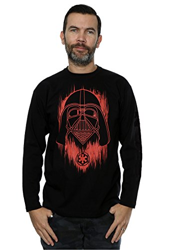 star-wars-homme-rogue-one-vader-red-paint-manches-longues-t-shirt-x-large-noir