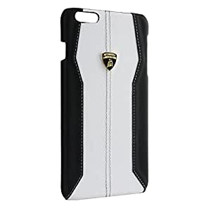 Tonino Lamborghini Huracan Coque de protection en cuir véritable pour Apple iPhone 6 Blanc