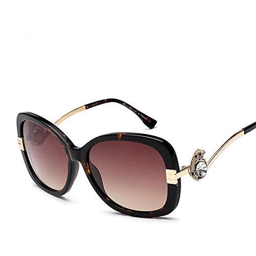 Chenyuan Damenmode polarisierte Sonnenbrille Klassische Vintage-Design-Stil Womens Aviator Sonnenbrille (Farbe : Amber)