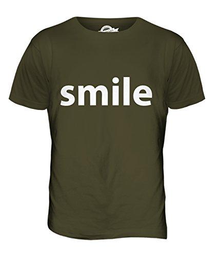 CandyMix Smile Lächeln Herren T Shirt Khaki Grün