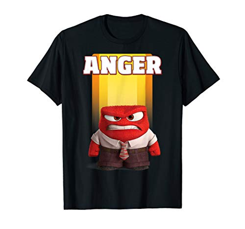 Inside Out Damen T-shirt (Disney Pixar Inside Out Anger Graphic T-Shirt)
