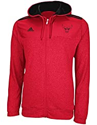 Chicago Bulls Adidas 2012 Pre-Game On Court Full Zip Hooded SweatShirt Chemise Jacket Veste