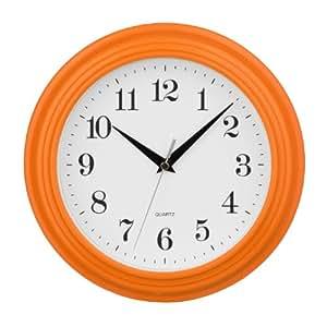 premier housewares 2200701 vintage wanduhr orange. Black Bedroom Furniture Sets. Home Design Ideas
