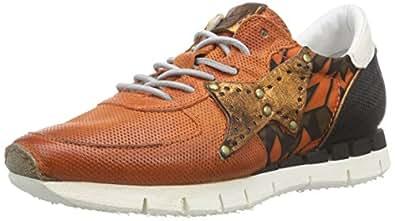 A.S.98 139125, Damen Sneakers, Mehrfarbig (Arancio/Ossido/Dark/Bianco), 36 EU