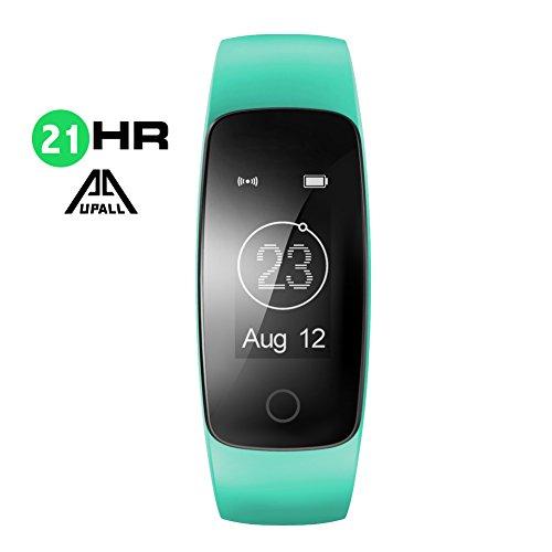 Fitness Tracker,AUPALLA 21HR smartband e Activity Tracker con ampio schermo e misurazione della frequenza cardiaca, previsioni meteo, vari preset Sport, pedometro, monitoraggio del sonno e delle calorie bruciate, music control. Supporta iPhone e smartphone Android