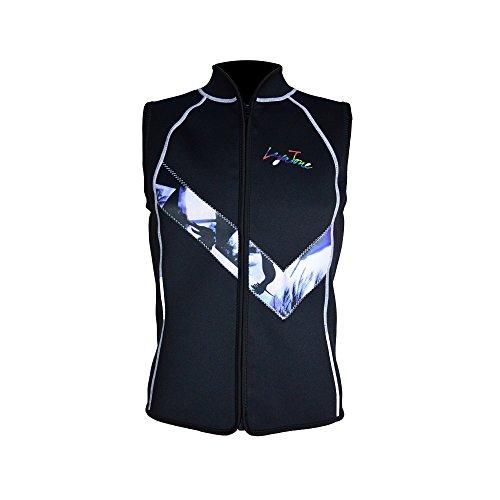 LayaTone Neoprenanzug Weste für Männer Premium Neopren 3mm ärmellose Neoprenanzüge Tauchweste Surfanzug Schnorcheln Tauchen Neoprenanzug für Frauen Männer