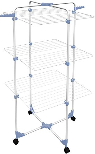 Gimi Modular 3 Stendibiancheria da Pavimento a Torre in Acciaio, 30 m Stendibili
