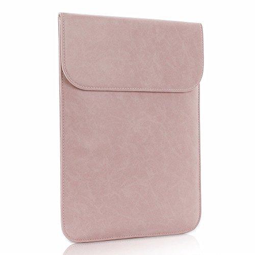 41 - Allinside Funda de Cuero Sintético para portátiles de 13-13.3 Pulgadas MacBook Air/MacBook Pro/Pro Retina/Notebook/Laptop, Rosa