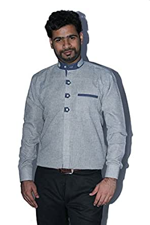 The Mods Gray Stand Coller Dis. Shirt