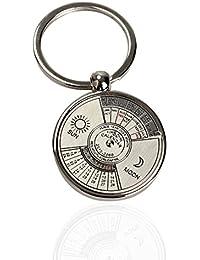 Vktech Mini calendrier perpétuel Porte-clés Anneau porte-clés en métal unique 50ans