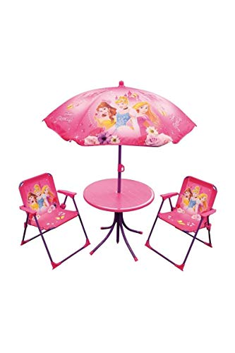 Fun House 712348Disney Princesses salón de jardín para niños con 1Mesa, 2sillas...