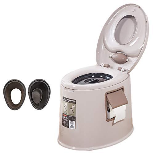 Kitrack Toletta da Toilette Portatile Rimorchi Chimica per Il Bagno di Campeggio Esterna in Plastica,Brown