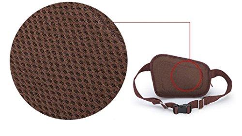 FZHLY Outdoor-Männer Multifunktions Taschen,Coffee BlueAndBlack