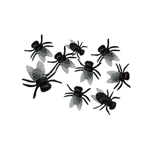 HCFKJ 2017 Mode Halloween 20 Pc Halloween Plastik Flys Scherz Spielzeug Dekoration Realistisch - Halloween-masken Realistische 2017