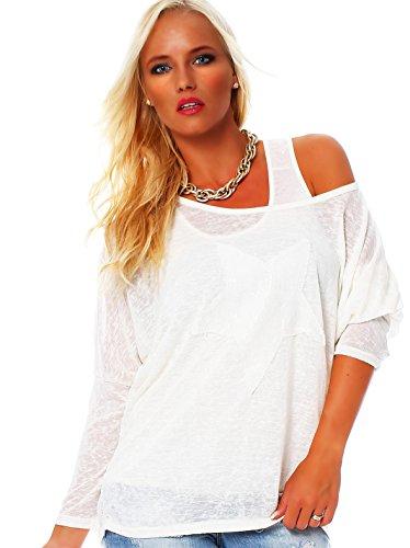 Moda Italy - Chemisier - Tunique - Uni - Femme Blanc