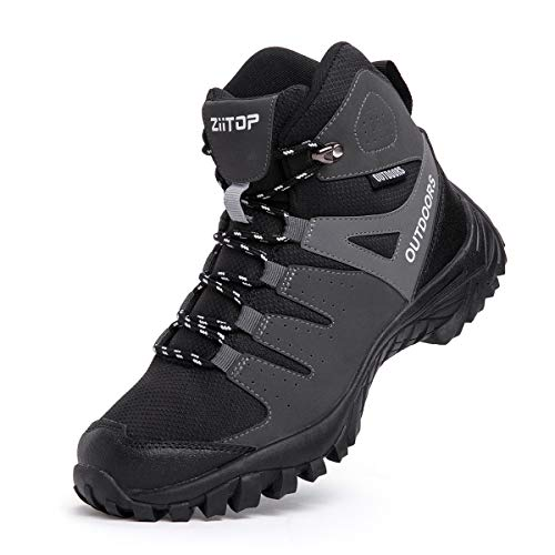 Walking Boots Men High Rise Hiking Boots Lightweight Trekking Boot Walking Shoes Man Anti-Slip Ankle Boots Lace-up Walking Boots Walking, Travelling, Backpacking,Camping, Trekking, Biking