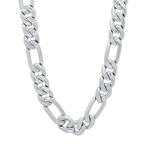 da-uomo-9-mm-placcato-al-rodio-diamante-figaro-catena-e-bracciale-set-placcato-platinum-cod-rl-010js