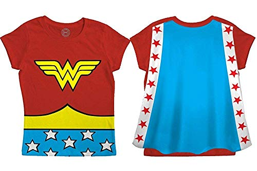 Wonder Woman Toddler Costume Red Caped T-Shirt (Wonder Woman Caped T Shirt)