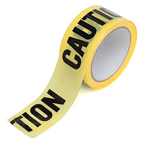 Zorux – 50 m x 5 cm Rolle Gelb Warnklebeband Aufkleber für Sicherheitsbarriere für Polizei, Barrikade für Bauunternehmer.
