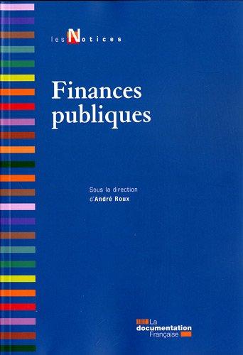 Finances publiques- 3e édition par André Roux