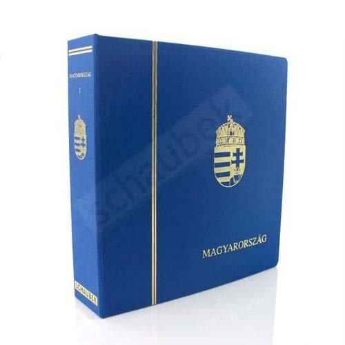 Preisvergleich Produktbild Schaubek Album Ungarn 2000-2009 Standard im geprägten Leinen-Schraubbinder blau, Band VIII, mit Schutzkassette KOA-822/08N