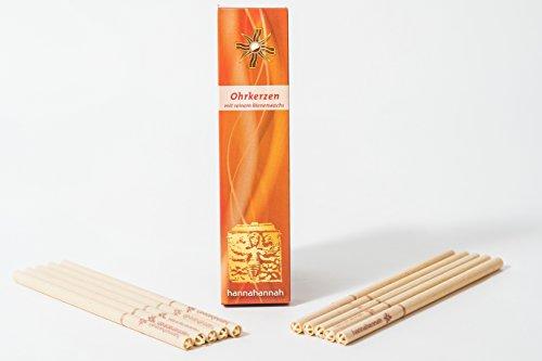 *Ohrkerzen 10 (Honig-Salbei) aus Bienenwachs mit Filter – zur Reinigung*