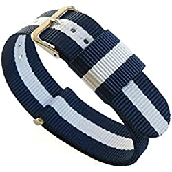 Gemony 20mm Nato Strap Nylon PVD Watch Band, 12 Colours Available, Interchangeable, Replacement for DW
