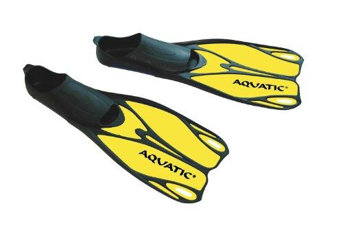 Aqua Speed Flossen - Profi Schwimmflossen - Taucherflossen - Perfekt Für Meer Und Pool - Sehr Leicht - #As Laguna, Gelb, 38/39