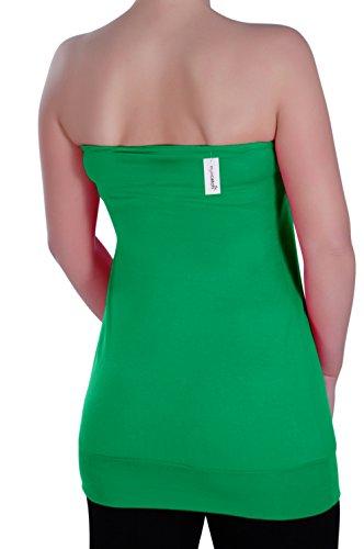 Eyecatch - Nicole Aux Femmes Sans Manches Mode Ruché Dames Sans Bretelles Top Jade Vert