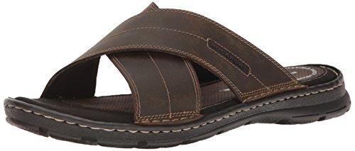 Rockport Men's Darwyn Xband Slide Sandal, Brown Leather, 8 W US Rockport Laufschuhe