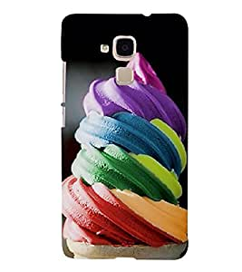 Multi colour Icecream 3D Hard Polycarbonate Designer Back Case Cover for Huawei Honor 5c :: Huawei Honor 7 Lite :: Huawei Honor 5c GT3