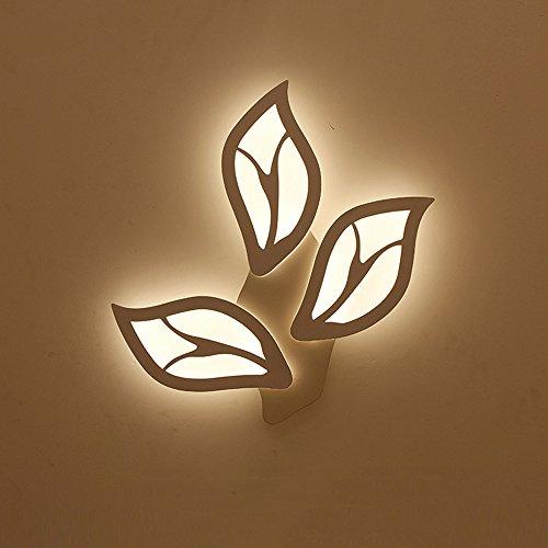 Innenbeleuchtung, Nachttischwandleuchte Blattform einfach und kreativ LED Schlafzimmer Flur Flur Hotel Hotel Wandleuchte Wandfluter,...