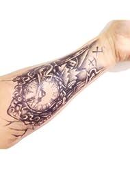 Stickers de tatouage temporaire pour l'art corporel Horloge Temporary Tattoo Body Tattoo Sticker - FashionLife