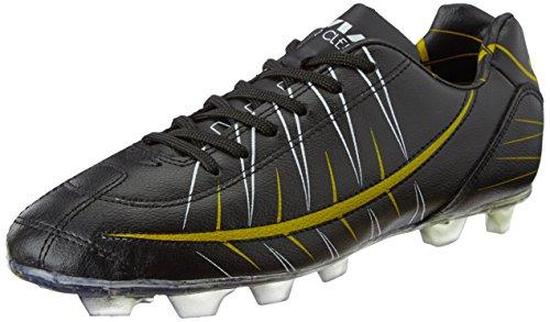 Nivia-Premier-Cleats-Football-Shoes-Mens-UK-BlackYellow