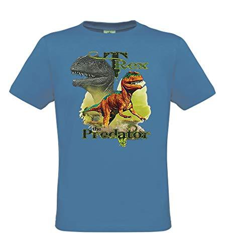x Predator - Dinosaurier T-Shirt für Kinder - Tiermotiv Shirt Wildlife Lifestyle Regular fit, Größe 134/140, Azure ()