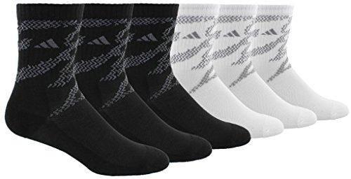 Adidas Socken teen-boys Youth Tiger Style 6er Pack Crew Socken, Schwarz , 4 Jahre (6 Pack Athletic-crew Socke)