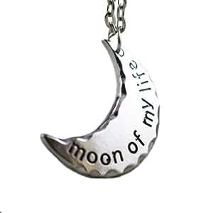 Game of Thrones. de demi-lune Daenerys Targaryen 'Moon Of My Life' Collier avec pendentif en argent plaquŽ