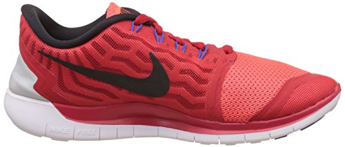 Nike Free 5.0, Baskets Basses Homme Rouge (601 UNVRSTY RED/BLCK-TTL CRMSN-WHT)