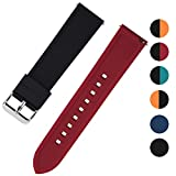 Fullmosa Rainbow Silikon-Uhrenarmband kompatible Huawei Uhr Asus Uhr, 6 Farben Weichgummiband mit Edelstahlschnalle für Fossi