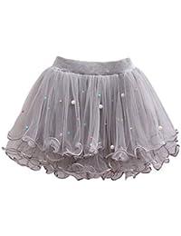 7930b8c00e75b YFCH Trois Couches de Danse Ballet Jupe Tutu Fille Plissée Élastique  Classique Mini Robe Solide Couleur