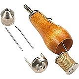 Hrph Profesional Speedy Stitcher Costura Awl Kit de herramientas para la vela de cuero y lona Reparación pesada