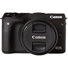 Canon EOS M3 Compact System Camera EF-M 15-45 mm f/3.5-6.3 IS STM Lens - Black
