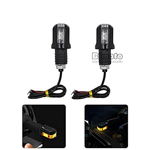 BJ Global 2 pcs New Style moto Blinker lampe Poignée Bar End LED Turn Signal Light