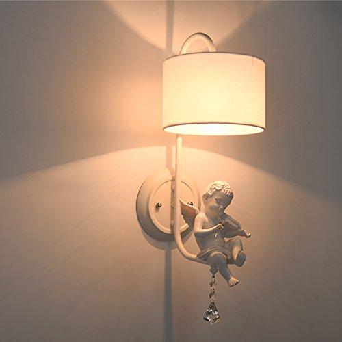 BBSLT Europeo retro creativo camera da letto parete lampada da